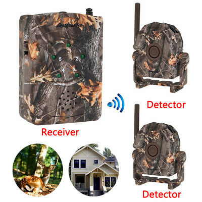 433 Wireless Outdoor Alarm System Motion Sensor Home/Farm Hunting Trail Security