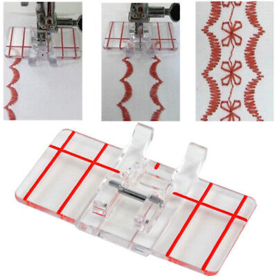 Plastic Clear Parallel Stitch Foot Presser For Brother Domestic Sewing Machine