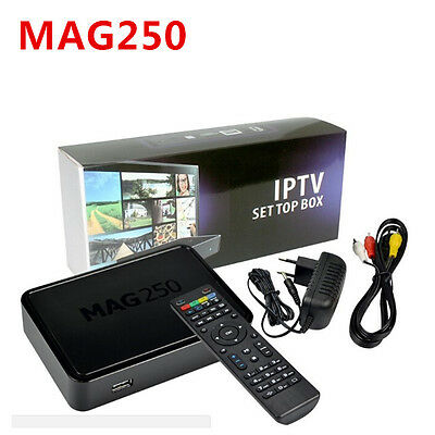 MAG250 Linux 2.6.23 IPTV Set Top Box with 12 month IPTV Subscription