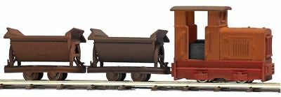 Busch 12117 HOn2 Painted & Unlettered Gmeinder 15/18 w/Roofed Cab & 2 Side Cars