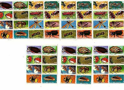 REP DE GUINEA EQUATORIAL Insects MINIATURE SHEET STAMPS Vintage