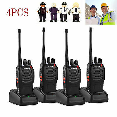 4pcs Baofeng BF-888S Long Range Walkie Talkie 16CH UHF 400-470MHZ 2-Way Radio uk