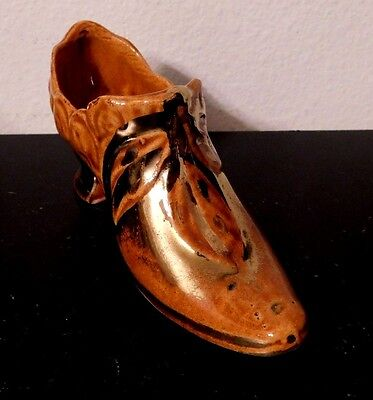 Vintage Victorian Style Ceramic Gold Trim  Miniature Collectible  Shoe  Boot