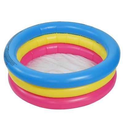 76cm 3 Ring Small Paddling Pool Kids Children's Inflatable Swimming Garden Play