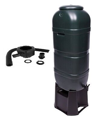 SPACE SAVING 100L Litre SLIMLINE WATER BUTT KIT with Stand, Diverter & Tap NEW