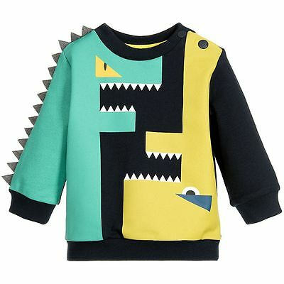 Fendi Baby Green Blue Ff Monster Sweater 18 Months