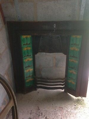 cast iron fireplace With Rare Antique Fireplace Tiles 10 In Total Green