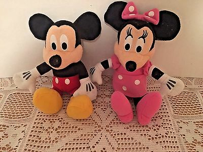 Lot Of 2 Disney Mickey And Minnie Mouse Plush