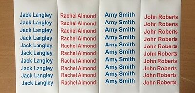 Personalised Waterproof Iron On Labels For Schools, Care Homes, Dance Classes