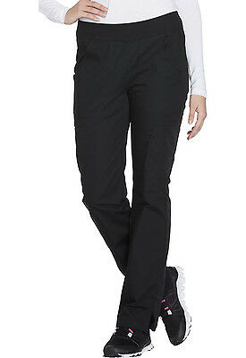 Black Cherokee Scrubs Workwear Straight Leg Pull On Cargo Pants WW210 BLKW