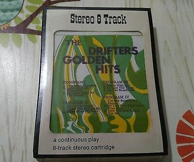 The Drifters Golden Hits 8 Track Stereo Catridge Sealed