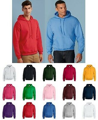 Mens & Womens Unisex Plain Hooded Sweatshirt Hoodie Sweat Hoody Jumper GD057