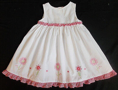Baby dress girl WHITE red 3-6 months