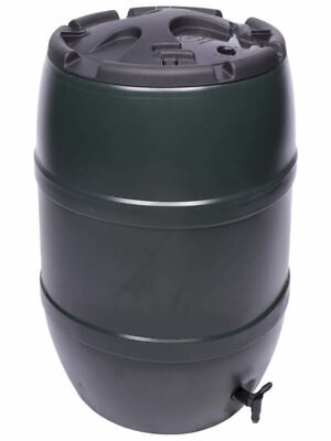 120L Litre WATER BUTT RAIN BARREL Lockable Childproof Lid & Tap Included NEW