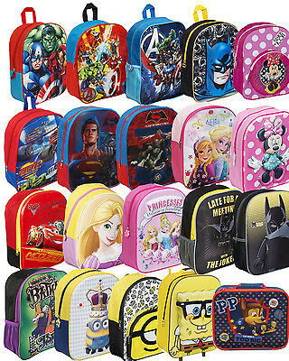 Children's Character Novelty Bags Disney Marvel Paw Patrol School Backpacks