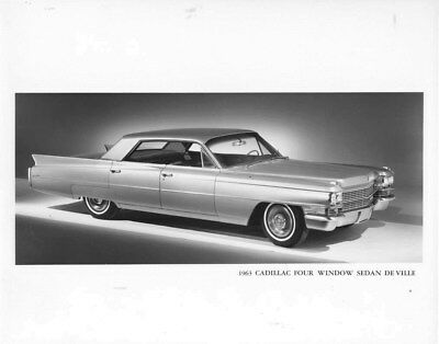 1963 Cadillac Four Window Sedan DeVille ORIGINAL Factory Photo oub5966