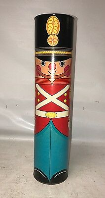 vintage toy soldier canister coin bank - piggy bank - holiday decor   #6876