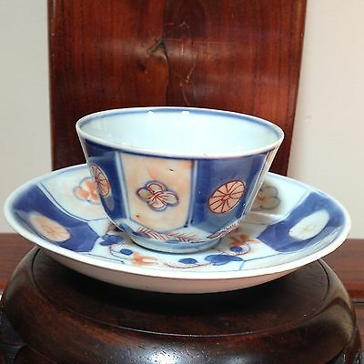 Antique Qing Dynasty Chinese Porcelain Tea Cup & Saucer China Excellent Conditio