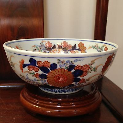 """Chinese Export Porcelain Bowl 8.5"""" 19th C. Hand Painted Gilt Multi-Colors"""