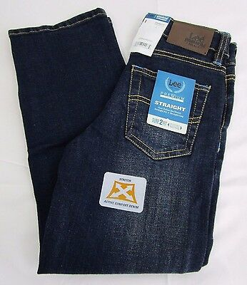 Lee Boys' Premium Select Regular Fit Straight Leg Jeans (Size Variety) *NWT*