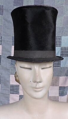 Mid 19Th C Men'S Stove Pipe Top Hat