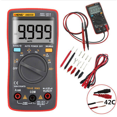 AN8008 True-RMS Digital Multimeter 9999 zählt Square Wave Spannung Amperemeter