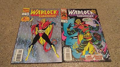 The Warlock Chronicles # 1 & 2 1993 Marvel Comic Book Lot