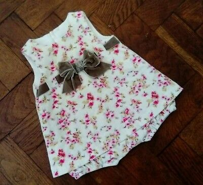baby girls floral Spanish romany style dress from Darcy brown age 0-3 months
