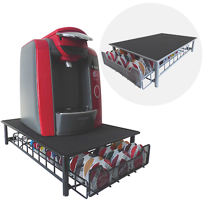 60 Pod Tassimo Coffee Holder & Dispenser Stand With Drawer Storage Green House
