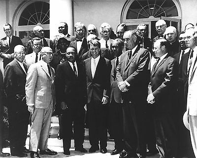 1963 Photo Civil Rights Leaders-Martin Luther King Jr-Robert Kennedy-Roy Wilkins