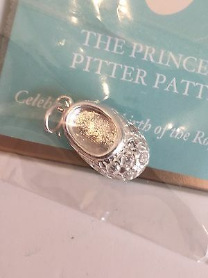 Stella & Dot Silver Princely Pitter Patter Charm - BNIB - New Baby Gift