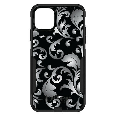 CUSTOM OtterBox Commuter for Apple iPhone Silver Black White Floral