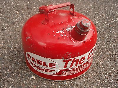 """Eagle """"The Gasser"""" 2-1/2 gallon round galvanized metal gas can"""