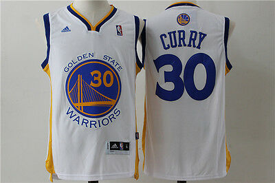 Nba Steph Curry Golden State Warrior #30 Swingman Jersey White