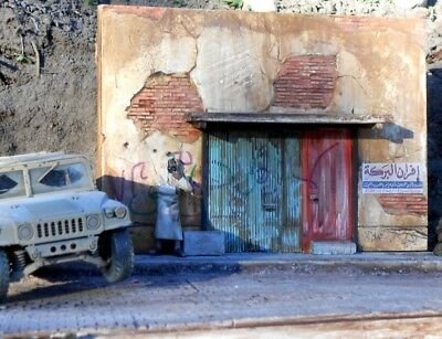 "DIORAMAS PLUS 20 1:35 (8""x11"") Afghan Street Scene Building Fronts With Base"