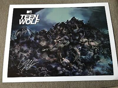 SDCC 2016 Teen Wolf Signed Poster Fox
