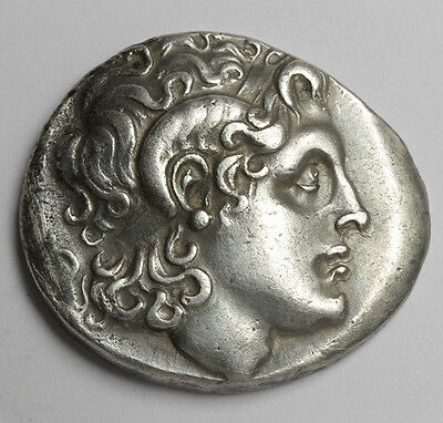 CM LYSIMACHOS, King of Thrace, Silver  Tetradrachm Genuine Ancient Greek Coin