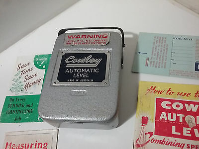 Vintage COWLEY AUTOMATIC LEVEL MADE IN AUSTRALIA
