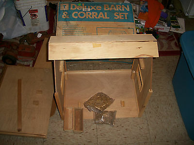 Lot of 2 Large Tymarc Wood Barn sets for Breyer Horses w Box Incomplete