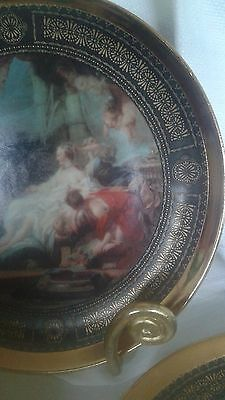Lot Of 11 Bavaria West Germany Boucher Hand Painted Plates