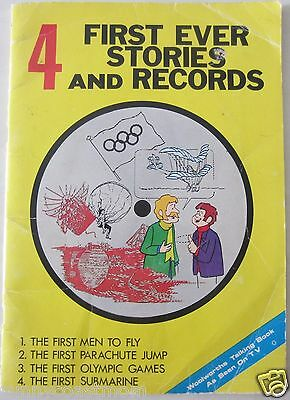 Vintage - 4 First Ever Stories and Records - Woolworths Talking Book