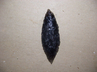Cascade Leaf-Shaped Lanceolate Obsidian Point Or Knife