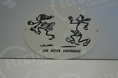 Reddy Kilowatt LIVE BETTER ELECTRICALLY ELECTRIC STEEL ENAMEL ELECTRICIAN GIFT
