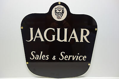 Jaguar Sales & Service Heavy Duty Steel Enamel Coat Dealership Sign! Almost Out!