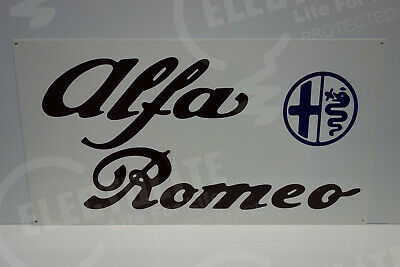 Alfa Romeo  DEALER SIGN. 16 BY 30. ENAMEL COAT STEEL. PRISTINE!
