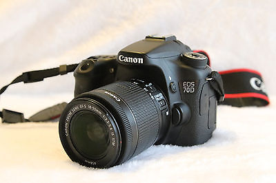 Canon EOS 70D 20.2MP Digital SLR Camera -Black(EF-S IS STM 18-55mm Lens ) #4533