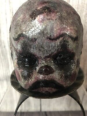 Creepy Clown Doll Head Horror Gothic Scary Zombie Haunted Spooky Dead Undead