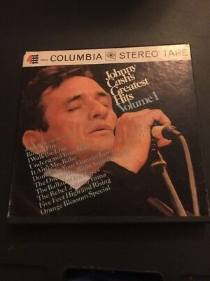Reel To Reel Tape Johnny Cash Greatest Hits Volume 1 Stereo Columbia Cq 940