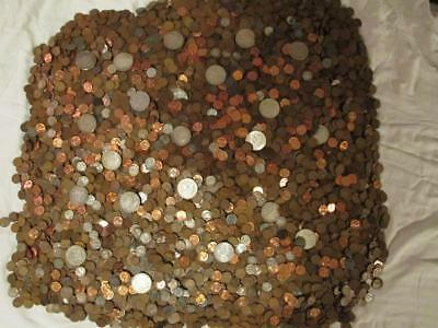 100+ (2+ Rolls) Guaranteed Unsearched Wheat Pennies Cents + Bonus Silver Dime