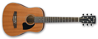 Ibanez PF2MH Mahogany 3/4 Size Acoustic Guitar - Open Pore Natural